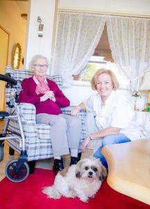 Evelien te huis voor verpleegkundige zorg